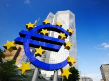 European Central Bank in Frankfurt injecting 1.1 trillion euros