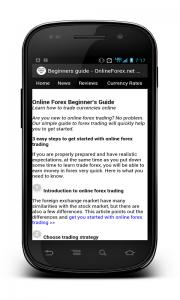 Beginners guide in forex app