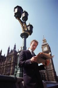 Business man, London Financial Times