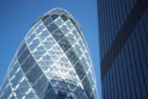 London financial district, UK Growth
