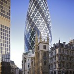 Gherkin building in the London financial district