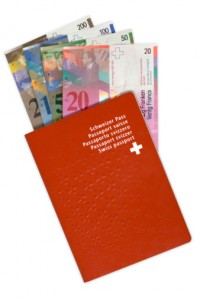 Swiss currency and banking, passport